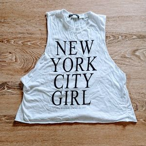 BRANDY MELVILLE White Muscle Tank NYC ONE SIZE Fit